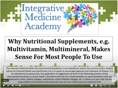why supplements make sense