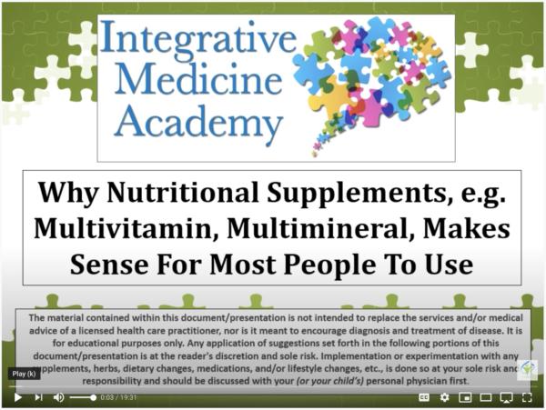 why supplements make sense