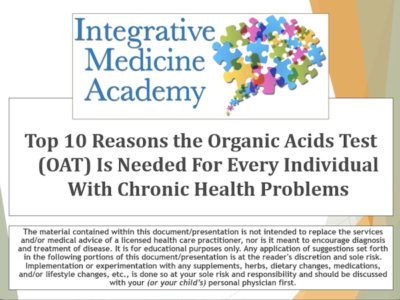 organic acids test - integrativemedicineacademy image