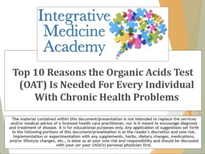 organic acids test - integrativemedicineacademy image